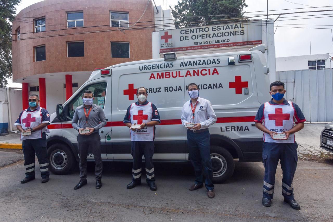 Cruz Roja Estado de México recibe donación de OXXO Gas