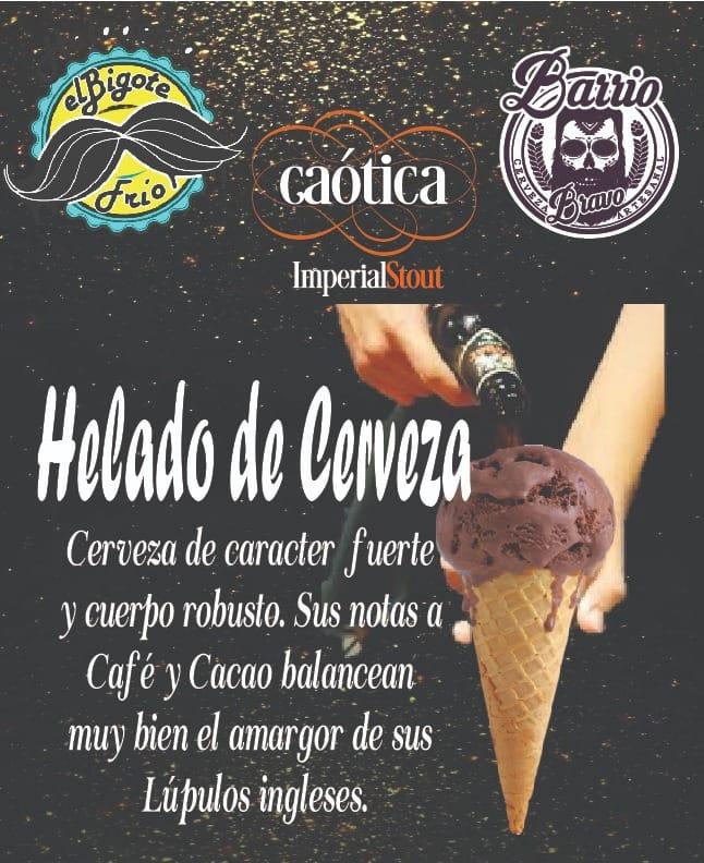 Helado de cerveza, la nueva creación de una heladería de Toluca