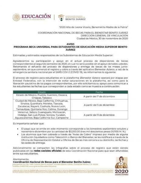 Coordinación Nacional de Becas para el Bienestar Benito