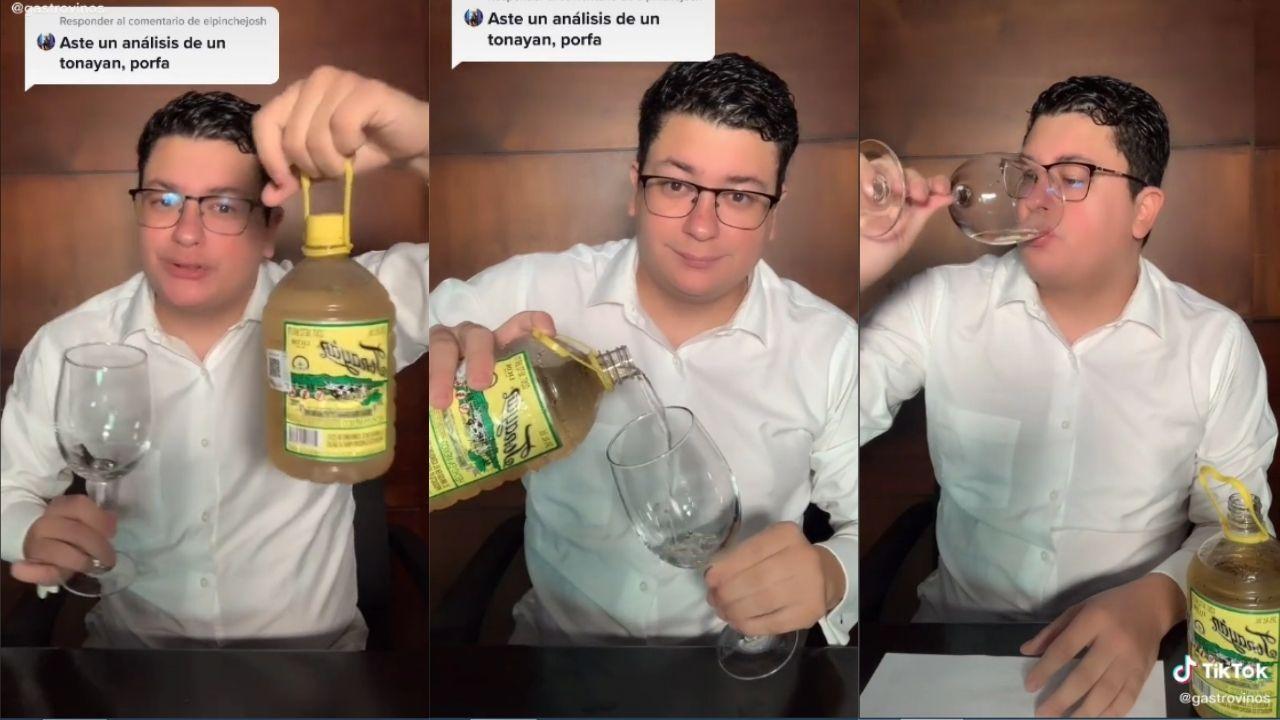usuario de TikTok realiza analisis de la popular bebida tonayan y se vuelve viral en redes sociales